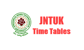 JNTUK 1-2 Exam Time Tables