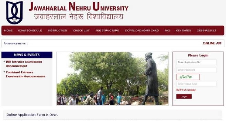 JNU Non Teaching Staff Admit Card
