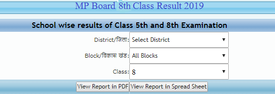 Full Overview - mp Class 8th Result 2019 Date & Status