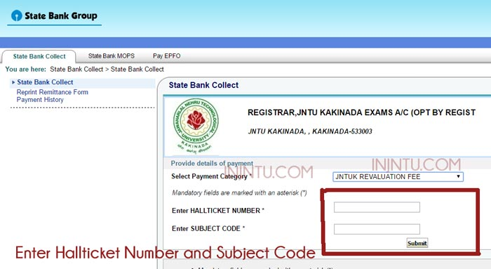 JNTUH Revaluation Form 2019 -JNTUH B.TECH CCC Rechecking Fees