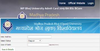 MP Bhoj University Admit Card 2019