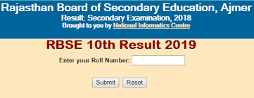 RBSE 10th Results 2019 Name wise