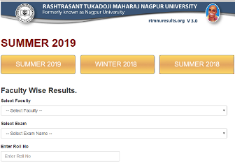 RTM Nagpur University Summer Results 2019