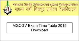 MGCGV Distance Time Table 2019-20