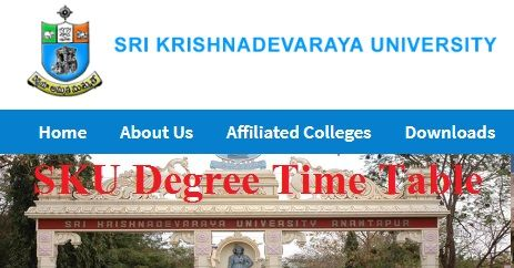 SK University Degree Time Table 2020