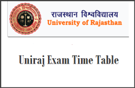 rajasthan university time table