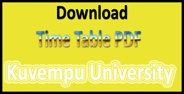 Kuvempu University DDE Time Table