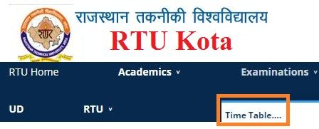 RTU Time Table 2019-20