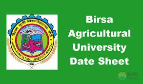 Birsa Agricultural University Time table