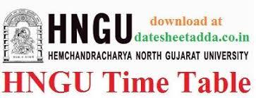 HNGU Time table