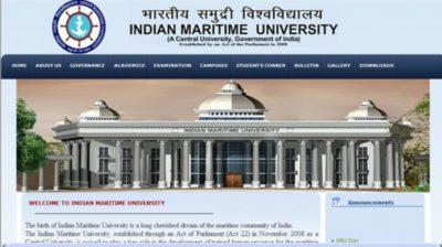 Indian Maritime University Result