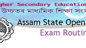 Assam State Open School Exam Time Table